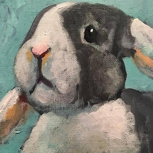 """Bunny"" original fine art by Susan Elizabeth Jones"