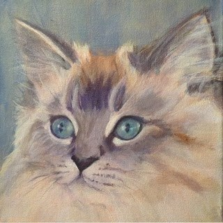 """Lindsey's Cats -Molly"" original fine art by Lyn Gill"