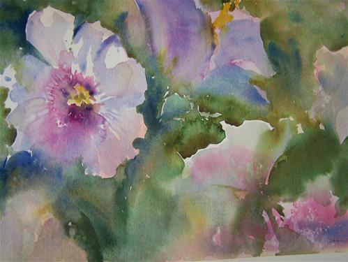 """Rose of Sharon"" original fine art by Joan Reive"