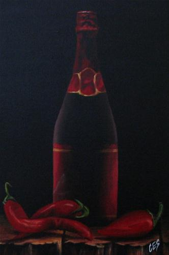 """Chili Peppers II"" original fine art by ~ces~ Christine E. S. Code"