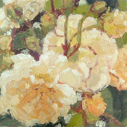 """Yellow Roses From Loleta"" original fine art by Andrew Daniel"