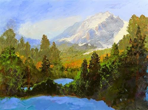 """Colorado Mountain Winter Snow Landscape Oil Painting Fall Into Winter by Colorado Landscape Artist"" original fine art by Susan Fowler"