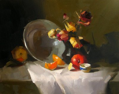"""""""Now and Then"""" original fine art by Qiang Huang"""