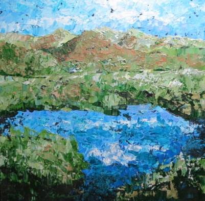 Pond at the Divide original fine art by Carol Keene