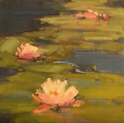 """Lily Pond"" original fine art by Laurel Daniel"