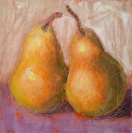 """Pears-Probably Number 50"" original fine art by Cindy Haase"