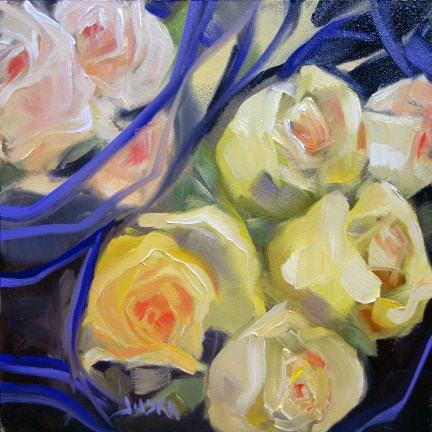 """Rose Bouquets for Valentine's Day"" original fine art by Elaine Juska Joseph"