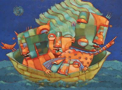 """Slow Boat To China"" original fine art by Brenda York"