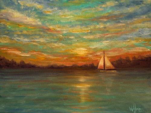 """Evening Sail"" original fine art by Sunny Williams"