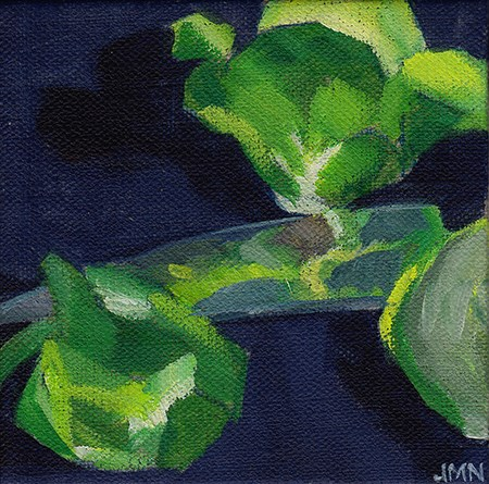 """Sprouts and Knife"" original fine art by J M Needham"