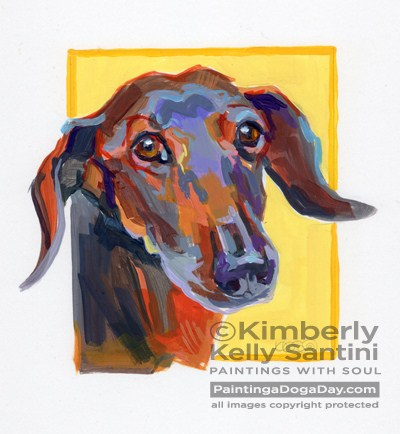 """Bucky, A Painted Sketch"" original fine art by Kimberly Santini"