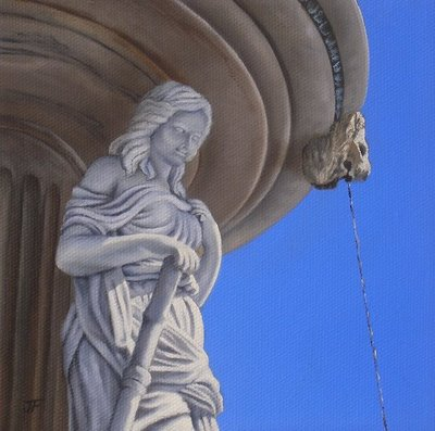 """Fountain Beauty 2 - Private Commission"" original fine art by Jelaine Faunce"
