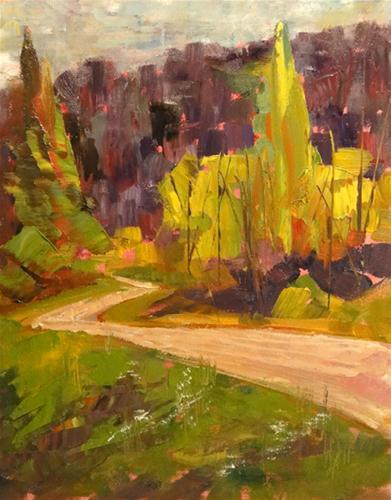 """Der Strabe (The Road)"" original fine art by Ann Feldman"