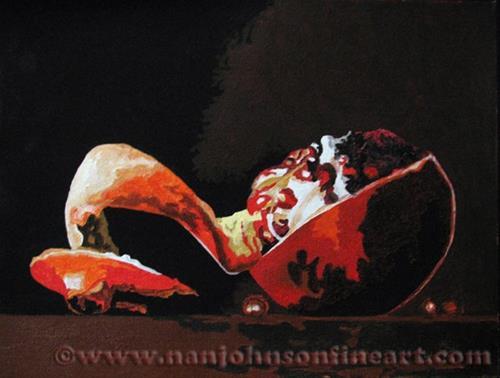 """Pomegranate"" original fine art by Nan Johnson"