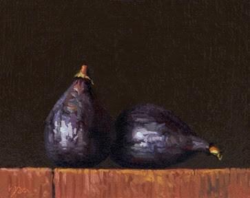 """Two Figs (24-hour auction)    (+ Sedona Workshop Testimonial)"" original fine art by Abbey Ryan"