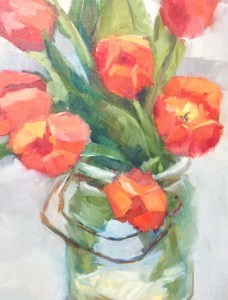 """Day 11 of 30 Orange Tulips I"" original fine art by Melissa Jander"