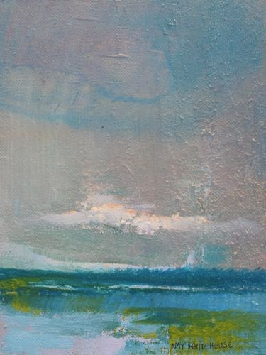 """Abstract Seascape #16, Seascape Paintings by Amy Whitehouse"" original fine art by Amy Whitehouse"