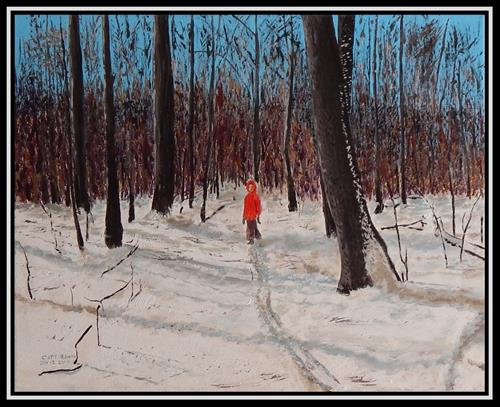 """Snow Path"" original fine art by Captain B Smith"