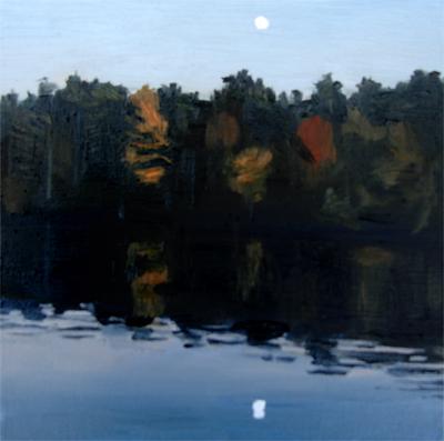 """Dusk on Lake Monomanoc, NH"" original fine art by Michael William"