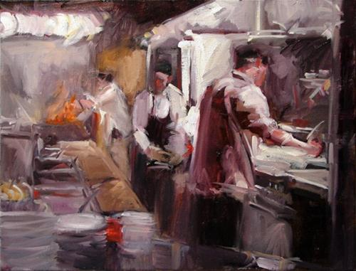 """Thrill of the Grill"" original fine art by Robin Cheers"