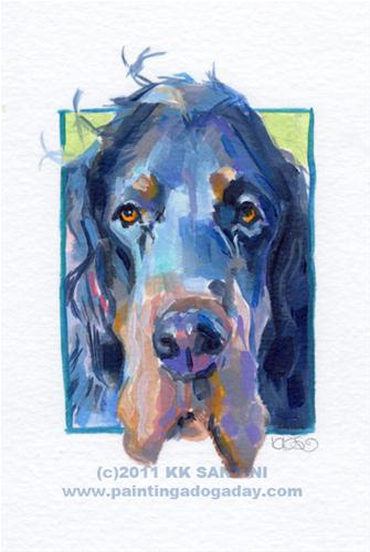 """Setter, A Painted Sketch"" original fine art by Kimberly Santini"