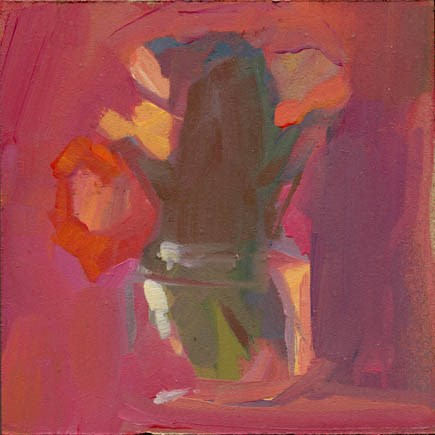 """1491 pink green"" original fine art by Lisa Daria"