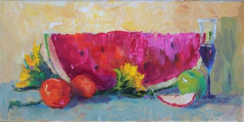 """Home Is Where The Food Is, Food Paintings by Arizona Artist Amy Whitehouse"" original fine art by Amy Whitehouse"