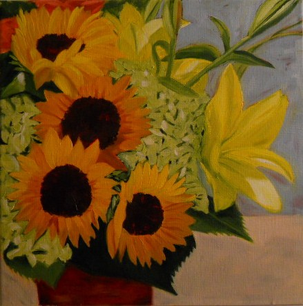 """Norton Floral"" original fine art by Claire Henning"