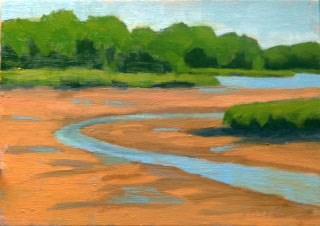 """Low Tide at Cove Road"" original fine art by Bobbi Heath"