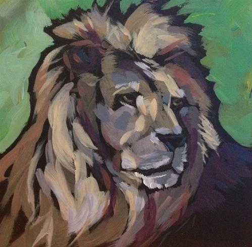 """Aslan"" original fine art by Kat Corrigan"