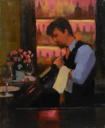 """Sommelier"" original fine art by Kathy Weber"