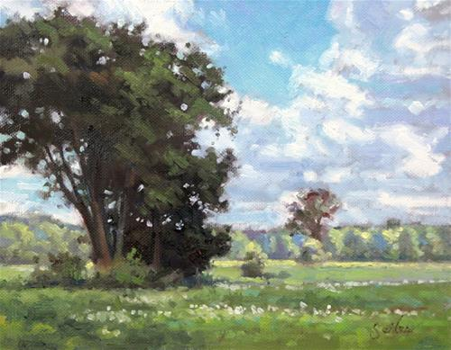 """Meadow Shade"" original fine art by Larry Seiler"