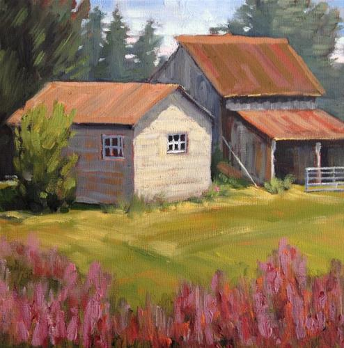 """Old Barn in Park City, Utah"" original fine art by Deborah Newman"