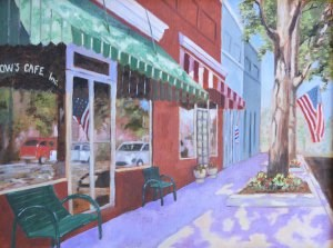 """Main Street"" original fine art by Robert Frankis"