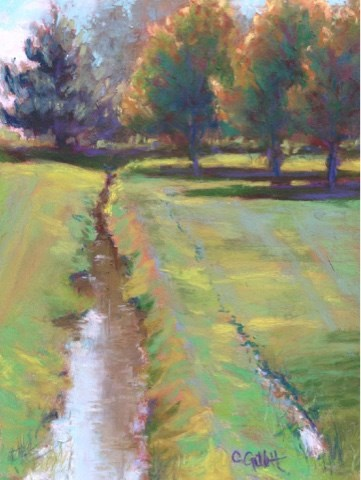 """Ditch Bank"" original fine art by Cindy Gillett"