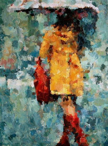"""Those Boots"" original fine art by Nava Judith"