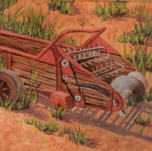 """Farm Implement"" original fine art by Robert Frankis"
