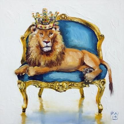 """king me"" original fine art by Kimberly Applegate"
