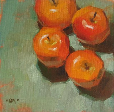 """Apples at Sea"" original fine art by Carol Marine"