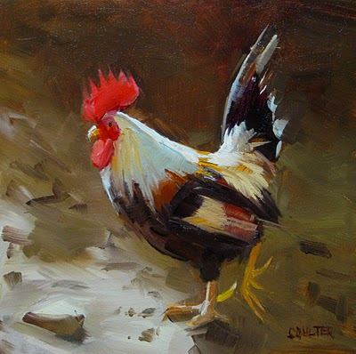 """DUDE ROOSTER"" original fine art by James Coulter"