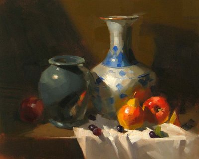 """Vase from China"" original fine art by Qiang Huang"