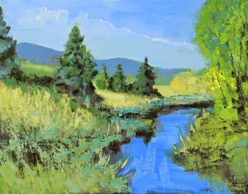 """Colorado Landscape Oil Painting Tranquility by Colorado Landscape Artist Susan Fowler"" original fine art by Susan Fowler"