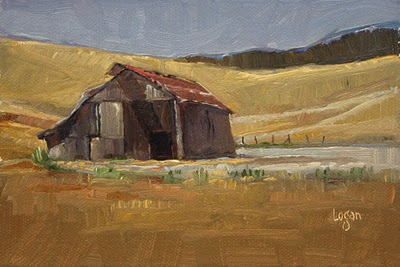 """Lonely San Luis Obispo Barn"" original fine art by Raymond Logan"