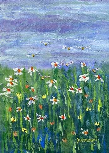 """Pollinator Series  Bee #39"" original fine art by Sue Furrow"