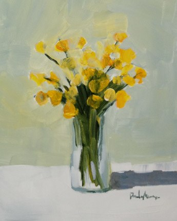"""sweet yellow"" original fine art by Pamela Munger"
