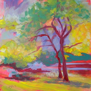 """Avery Park Trees 3"" original fine art by Pam Van Londen"