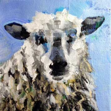 """""""Arnold"""" original fine art by Molly Wright"""