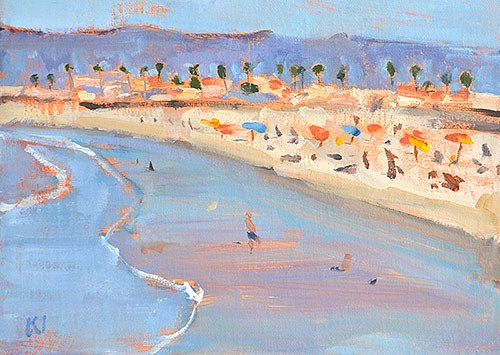 """Sunbathers, Ocean Beach"" original fine art by Kevin Inman"