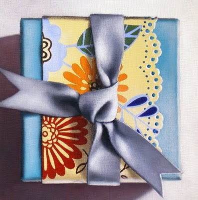 """Study - Gift Box I"" original fine art by Jelaine Faunce"