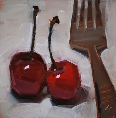 """A Fork in the Road"" original fine art by Carol Marine"